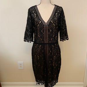 Tahari Lace Black Dress